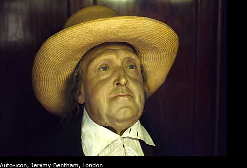 photos of the auto-icon of jeremy bentham