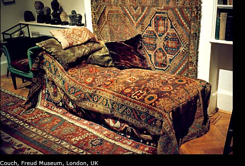 photos of freud's couch